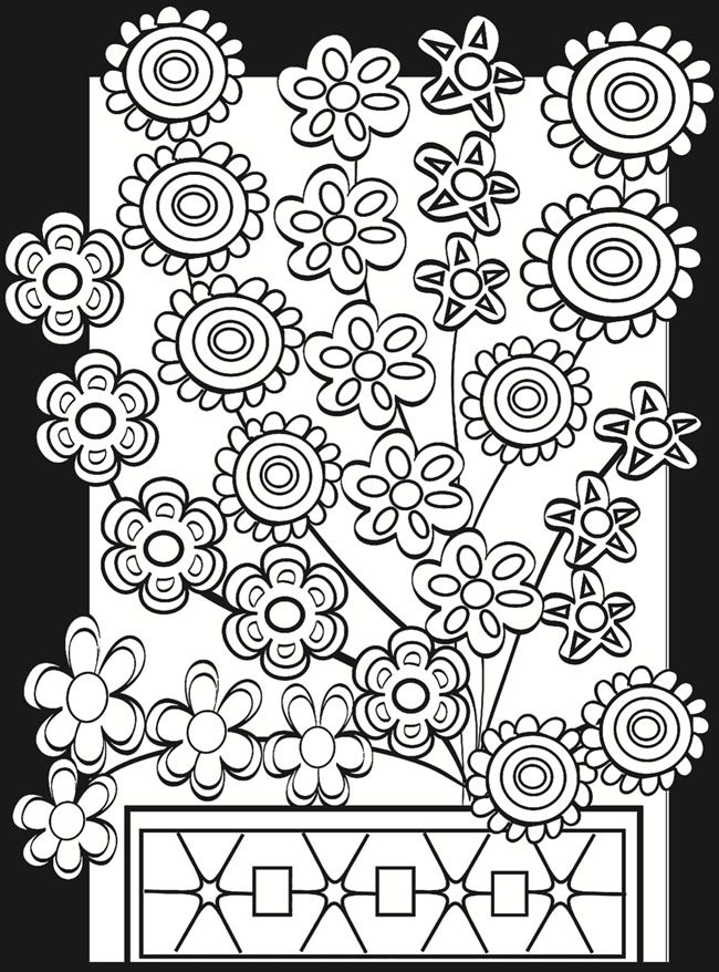 flower power coloring pages - photo#8