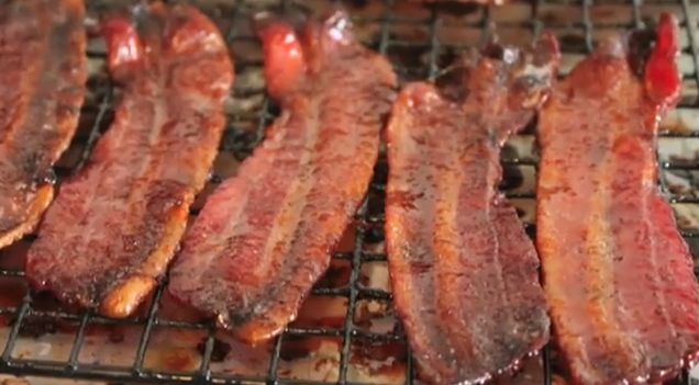 Spicy Candied Bacon Recipe | SNACK ATTACKS | Pinterest