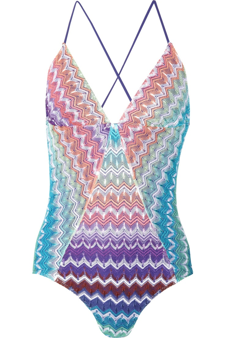 missoni crochet one piece.