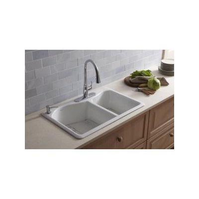 Kohler Lawnfield Sink : Kohler Lawnfield Offset Self Rimming Double Kitchen Sink