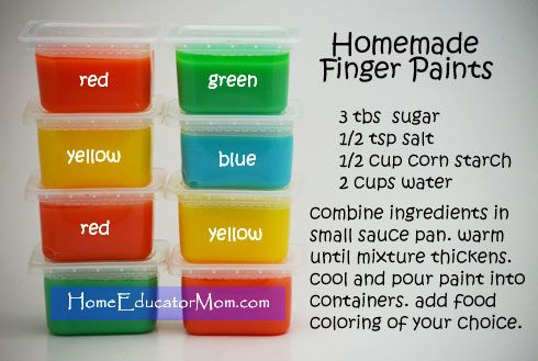 how to use finger paint