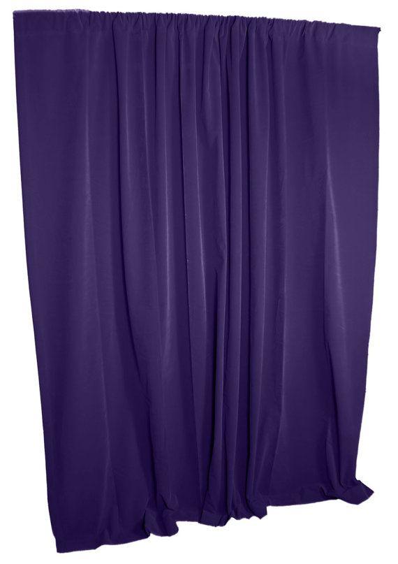 New purple velvet fabric custom made panel drape home window curtain 5
