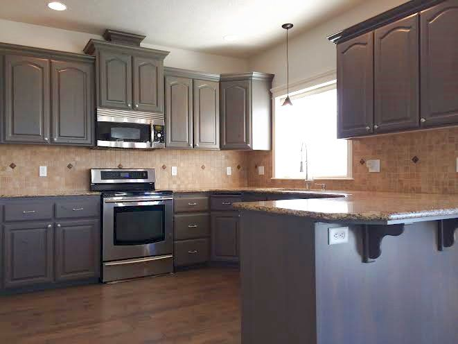 Best Gray Stained Kitchen Cabinets Yard Ideas Pinterest 400 x 300