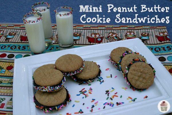 Mini Peanut Butter And Chocolate Buttercream Cookie Sandwiches Recipe ...