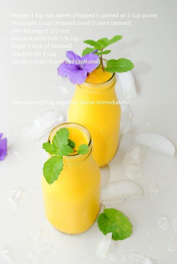 Mango pineapple smoothie | Liquid goodness | Pinterest