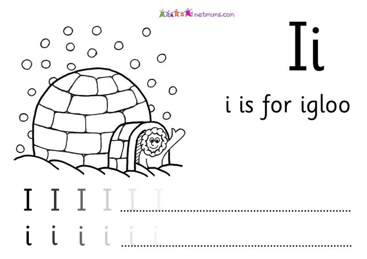 is for igloo - Alphabet to print off and colour in - Netmums