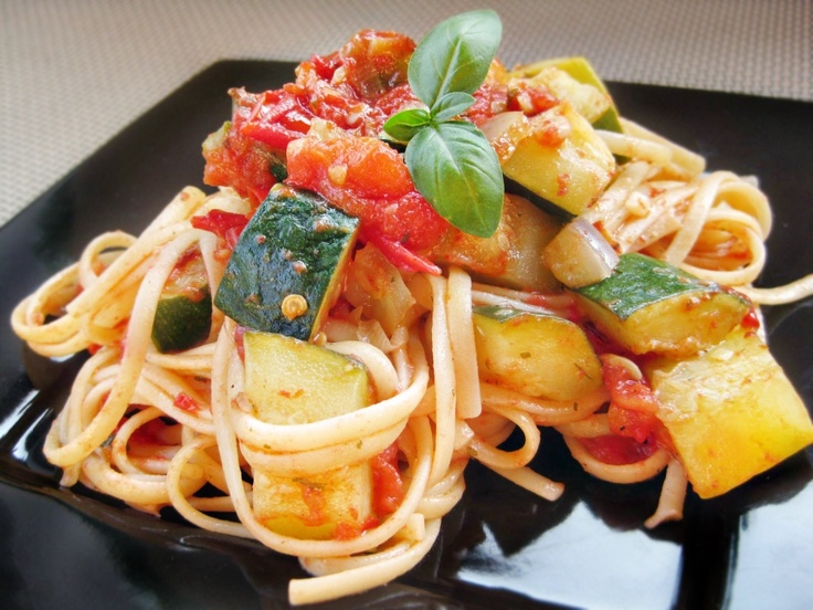 Linguine with Garden Vegetable Marinara | Healthy Foods | Pinterest