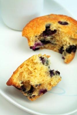 Healthy Cornmeal Muffins With Berries & Lemon Recipe — Dishmaps