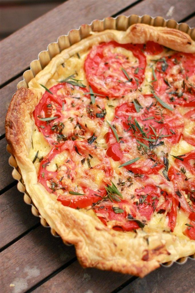 French Tomato and Dijon Tart | Whatcha eattin? | Pinterest