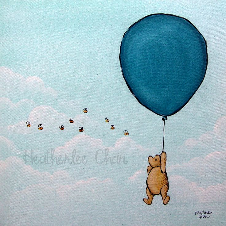 Classic Winnie The Pooh With Balloon Stencils Pinterest