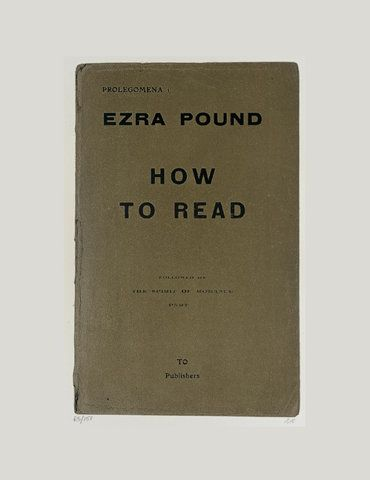 ezra pound essay-how to read