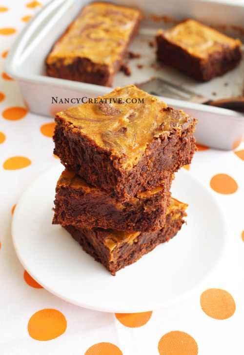 Double Chocolate Pumpkin Swirl Brownies | BAKINGlove