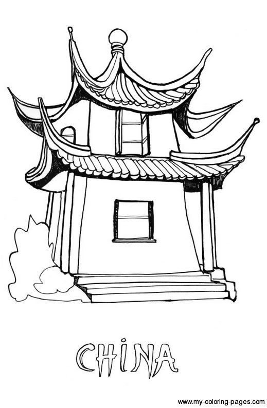 Ancient China Coloring Pages Pictures To Pin On Pinterest Ancient China Coloring Pages