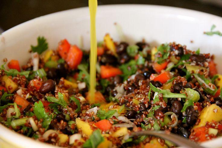 Mango and Black Bean Quinoa Salad | Entrees | Pinterest