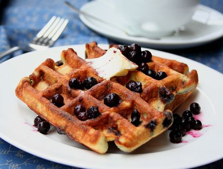 Blueberry Coconut Waffles... these are awsome waffles. My kids even ...