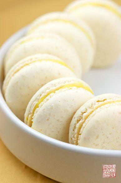 Italian Meringue Macarons with Lemon Verbena Ganache. http ...