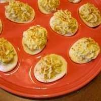 OLD BAY AND CRABMEAT DEVILED EGGS | Eat and Drink | Pinterest