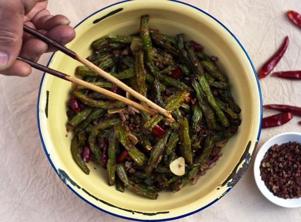 great greenbean recipe i added red pepper flakes stopped recipe after ...