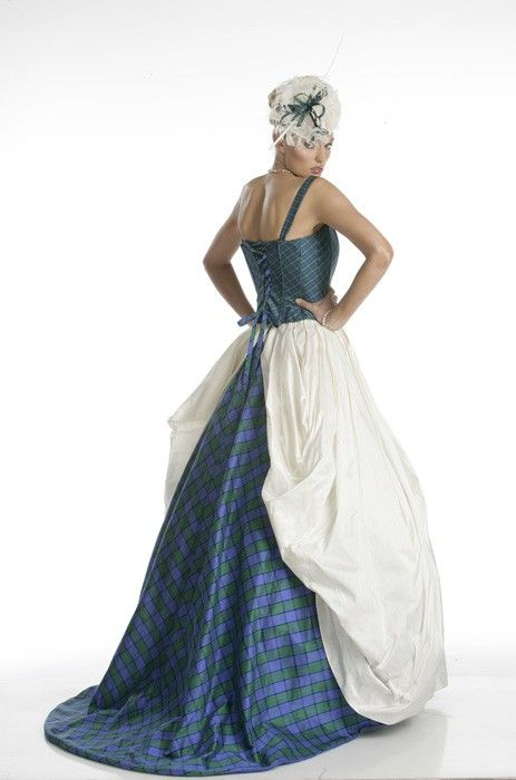 Wedding dressses with tartan style1 celtic wedding dress for Scottish wedding dresses with tartan