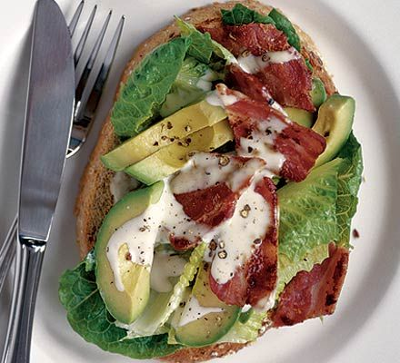 Hot avocado & bacon caesar sammy