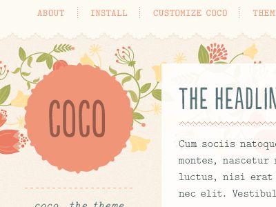 Coco Tumblr Theme  by Regina Casaleggio