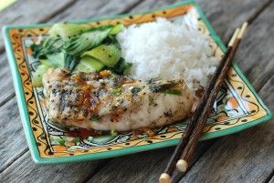 Grilled Striped Bass with Sweet-and-Savory Caramel