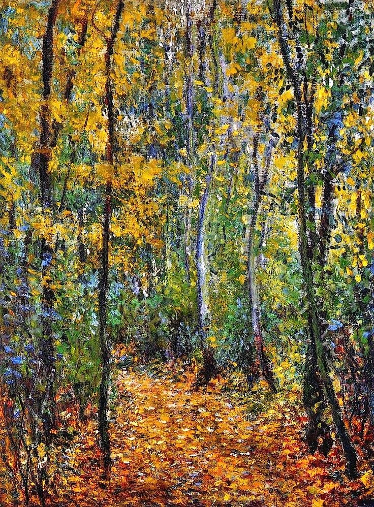 1876 Claude Monet Wood lane