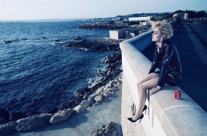 "Camilla Akrans shoots ""True Blue"" for Numéro September 2012"