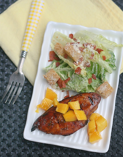 Balsamic-Mango Grilled Chicken - The Peach Kitchen; I adapted the ...