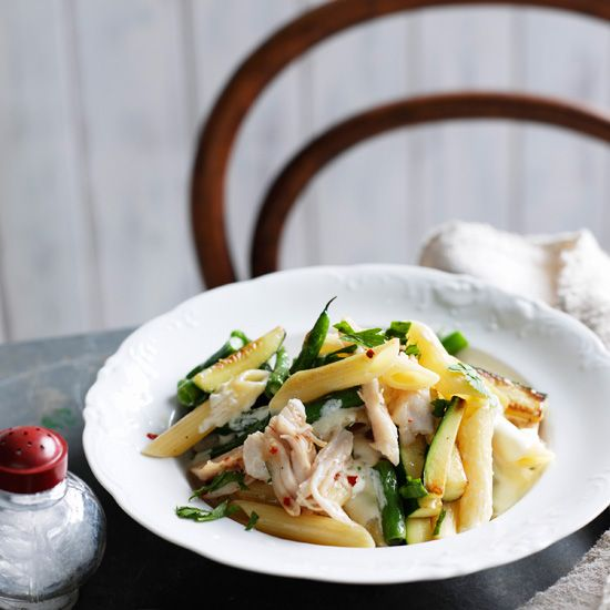 Penne with Smoked Chicken and Mascarpone // More Healthy Pasta Recipes ...