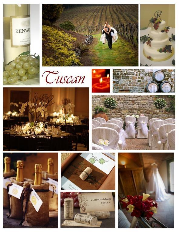 Creative Ideas For A Tuscany Wedding