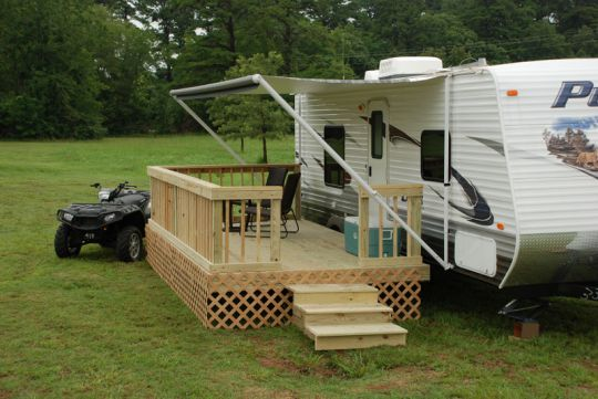 A Mobile Deck For Your Camper Or Rv Brilliant My Lil