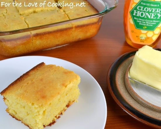 Sweet Honey Cornbread | Food - Homemade Bread-type Things | Pinterest