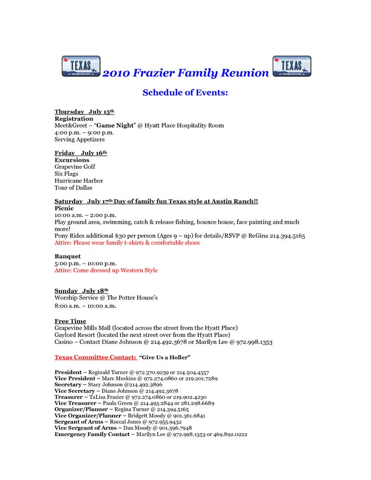 free printable family reunion letters 2010 frazier family reunion