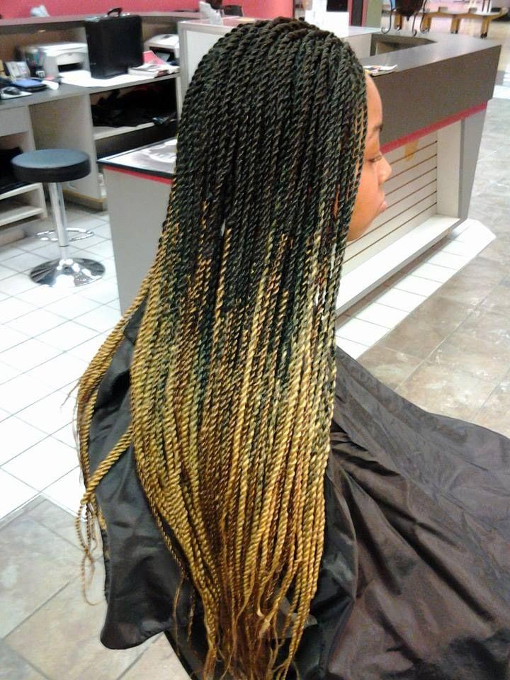Ombre Senegalese Twist Braids