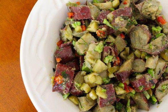 Chicken En Escabeche With Purple Mashed Potatoes Recipes — Dishmaps
