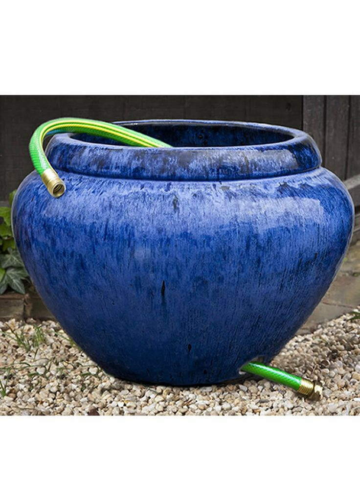 Hose Pot With Lip In Riviera Blue