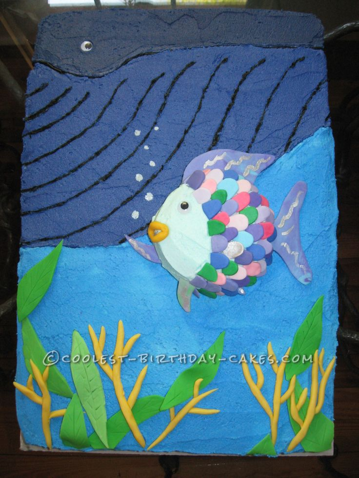 Rainbow fish and the big blue whale cake this website for Rainbow fish and the big blue whale
