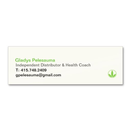 HerbaLife Business Card Black Logo