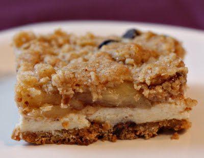 Apple Streusel Cheesecake Bars | Bars | Pinterest