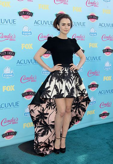 Teenage Dreams: The Best Looks at the Teen Choice Awards 2013 -  Lily Collins