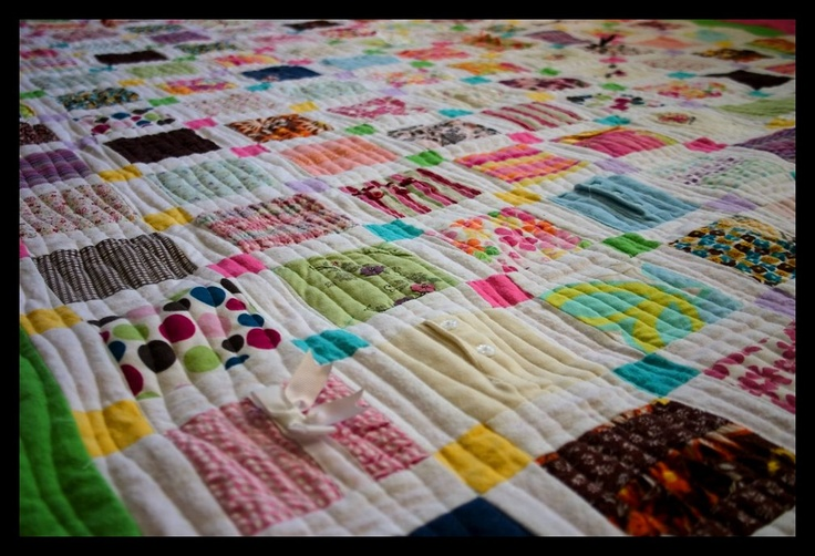 Memory quilt from baby clothes Quilts