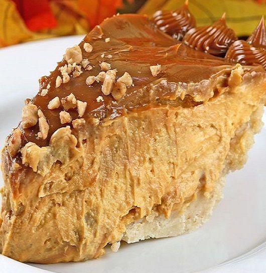 Gingery Pumpkin-Caramel Cheese Pie   RECIPES   Pinterest