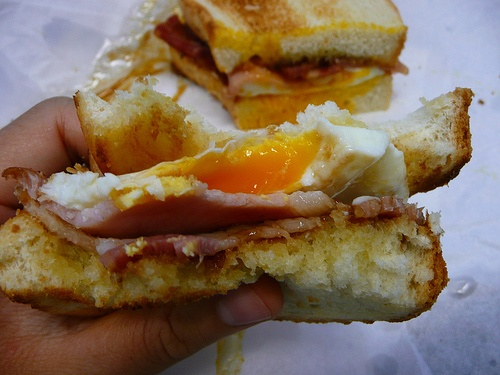 bacon and egg butty | Moments of Bliss | Pinterest