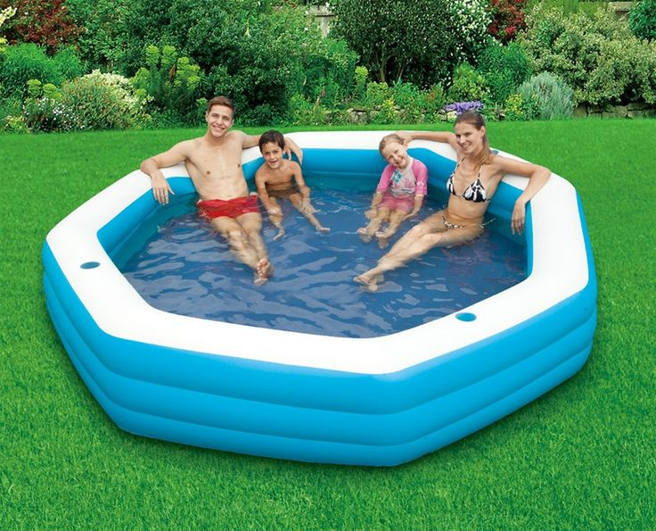 Large Inflatable Lounge Pool  Above Ground Pools  Pinterest