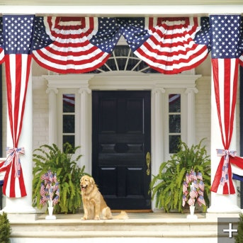 Fourth of july porch 4th of july pinterest for American flag decoration ideas