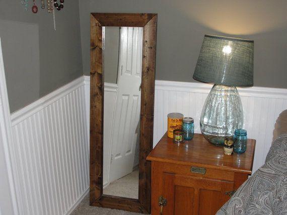 Framed full length mirror