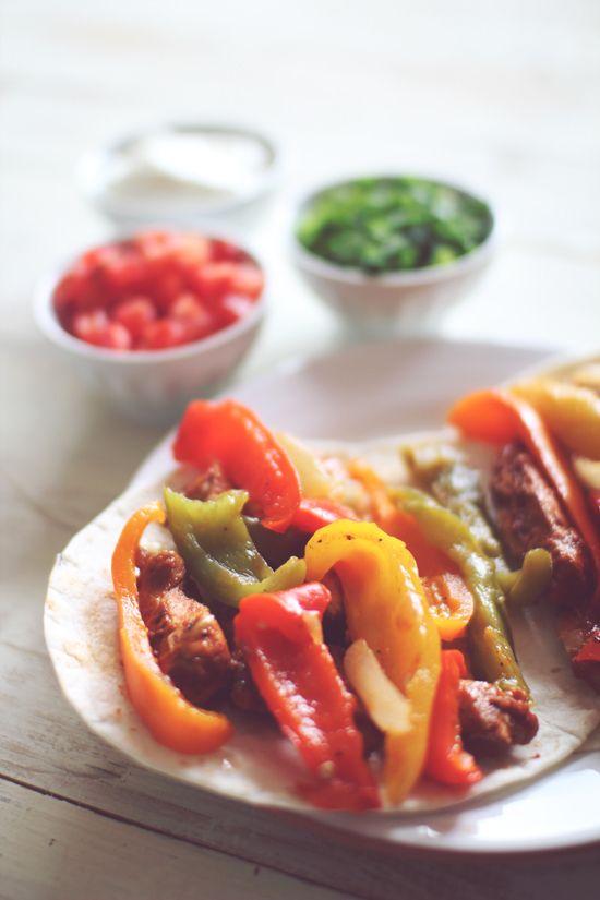 Crockpot Lime Chicken Fajitas | Recipes | Pinterest