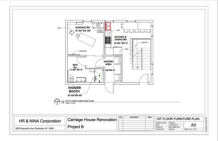 1st floor furniture layout plan portfolio revit for Furniture layout program