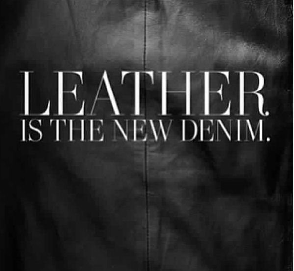 Ready for leather weather